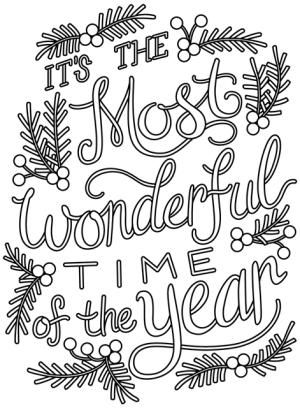 It's the Most Wonderful Time of the Year Embroidery Pattern - Image courtesy of www.urbanthreads.com