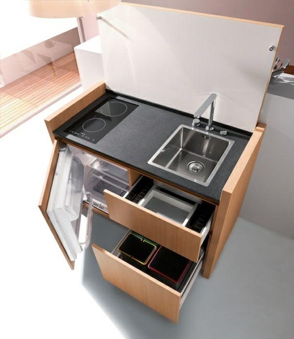 Portable Kücheninseln kühlschrank schubladen idee