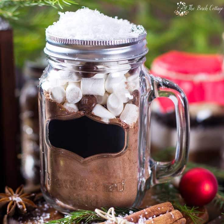 Homemade Hot Chocolate Mix recipe is more than just a recipe! Layer these ingredients in a jar and you have yourself a last minute DIY Christmas gift!