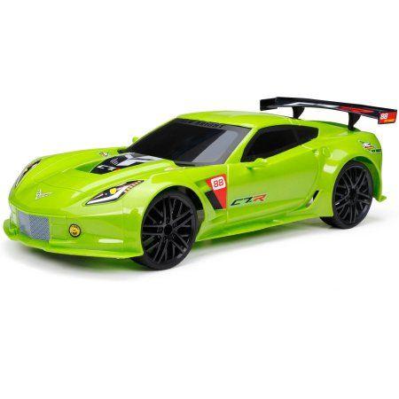 New Bright 1:12 Full-Function Corvetter C7R R/C Car, Green