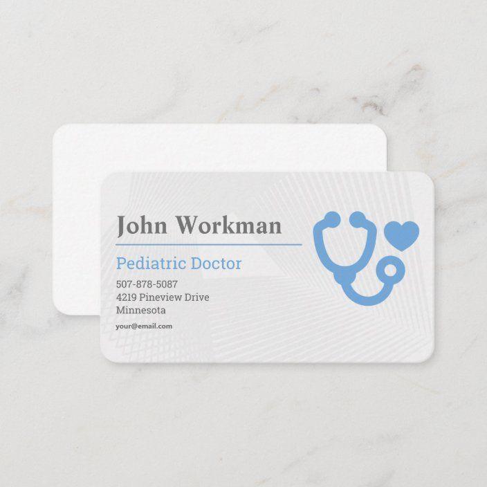 Pediatrician Medical Symbol Paramedic Doctor Business Card Zazzle Com Doctor Business Cards Medical Business Card Medical Symbols