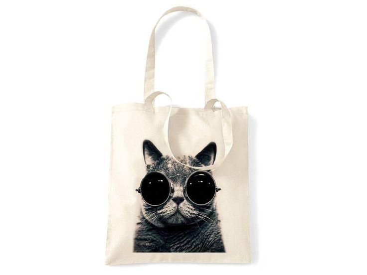 Jutebeutel Katze von CIRCULAR auf DaWanda.com