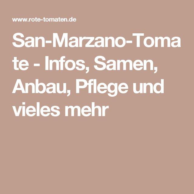San-Marzano-Tomate - Infos, Samen, Anbau, Pflege und vieles mehr
