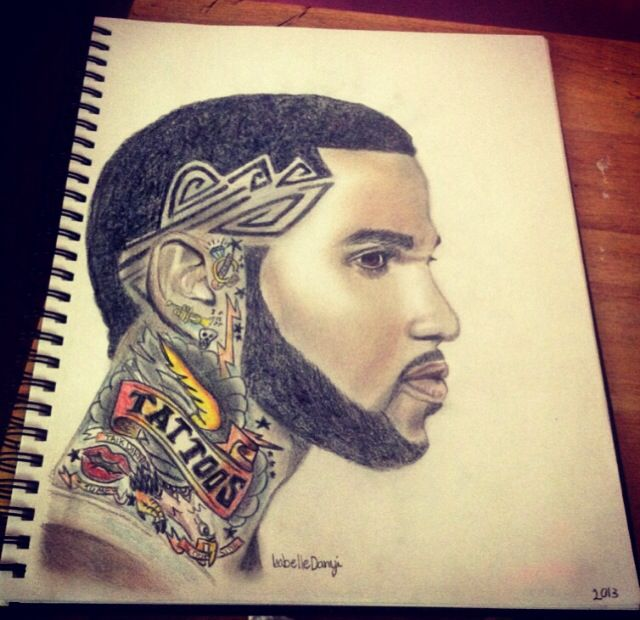 My drawing of Jason Derulo! <3 album cover of tattoos