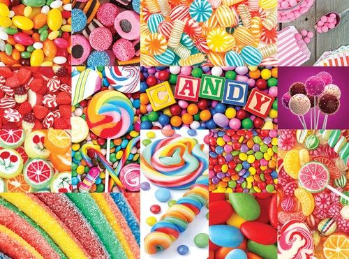 Colorful Candy - Collage Collections - 1000pc Jigsaw Puzzle