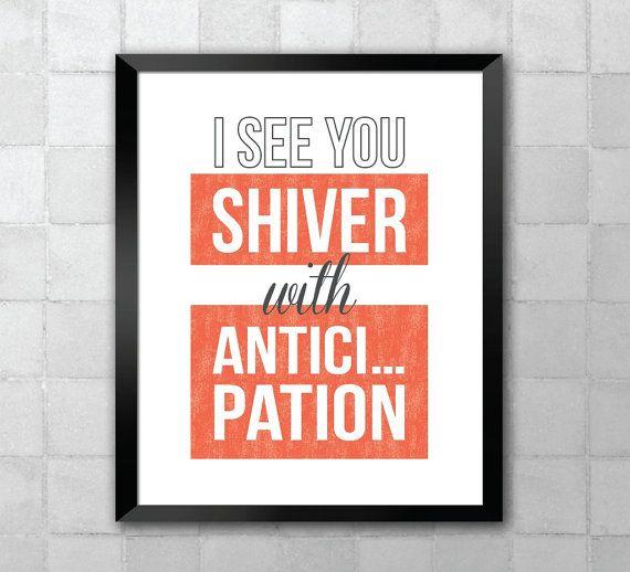 Rocky Horror Picture Show – je vous vois Shiver avec impatience-chanson Lyric reprends 11 8 x 10 x 14 typographie Wall Art imprimé