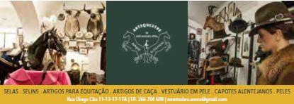 ArtEquestre de José Marques Azeda | Selas . Selins . Artigos para Equitação . Artigos de Caça . Vestuário em Pele . Capotes Alentejanos . Peles | Rua Diogo Cão, 11-13-17-17A | T/F. 266 704 609 | montsobro.evora@gmail.com