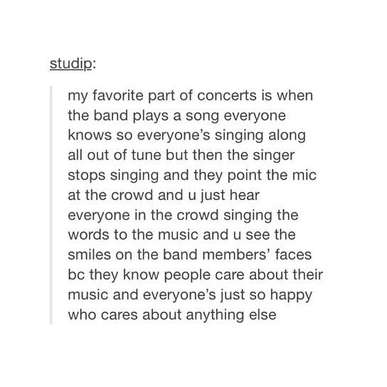 YEAH. <<< I've always loved when that happens! It happened at the concert I attended with Little Things <3