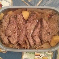 Garlic Top Sirloin Pot Roast - Allrecipes.com | Recipes ...