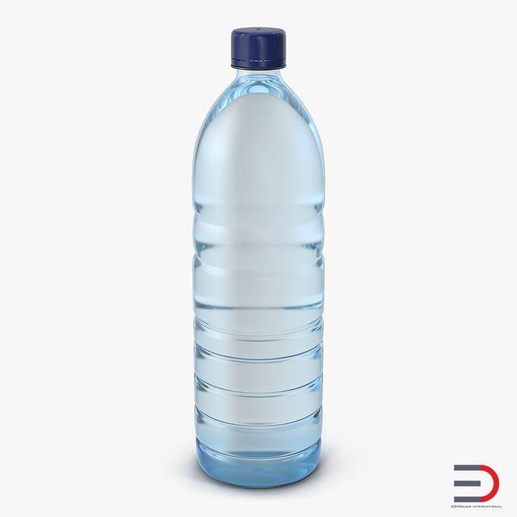 Plastic Water Bottle 2 3D model