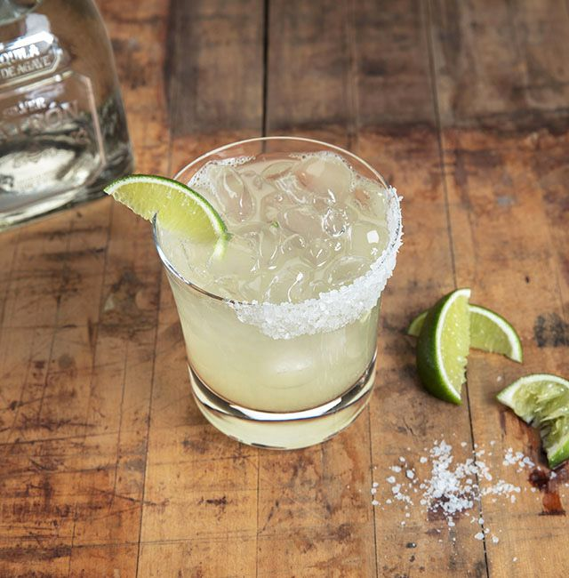 Time isn't frozen, it's served on the rocks with this classic take on a Patrón Margarita.