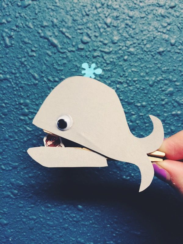 Jonah and The Whale craft... All you need is a clothespin, whale cut out, little jonah, and some glue. The little kids LOVED making it and walking around with him! Ministry is FUN!