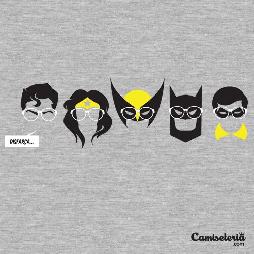 Camiseta 'Disfarça...'. http://cami.st/p/1642