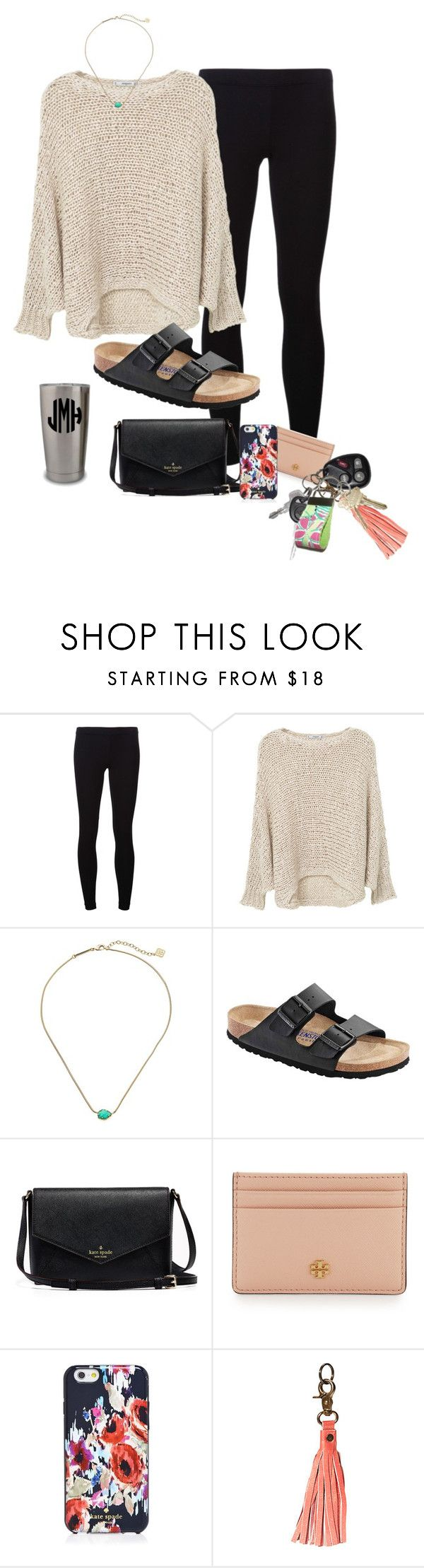 """""""saturday errands"""" by prep-lover1 ❤ liked on Polyvore featuring James Perse, MANGO, Kendra Scott, Birkenstock, Tory Burch, Kate Spade, Anuschka and Lilly Pulitzer"""