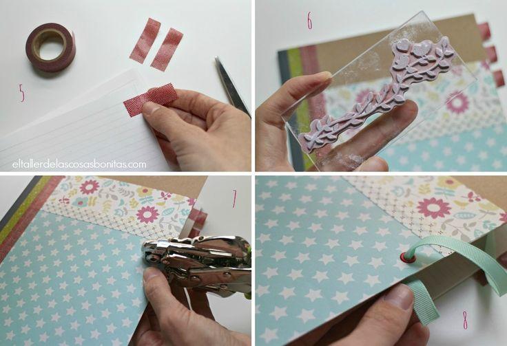 DIY Cómo hacer una libreta personalizada   notebook handmade