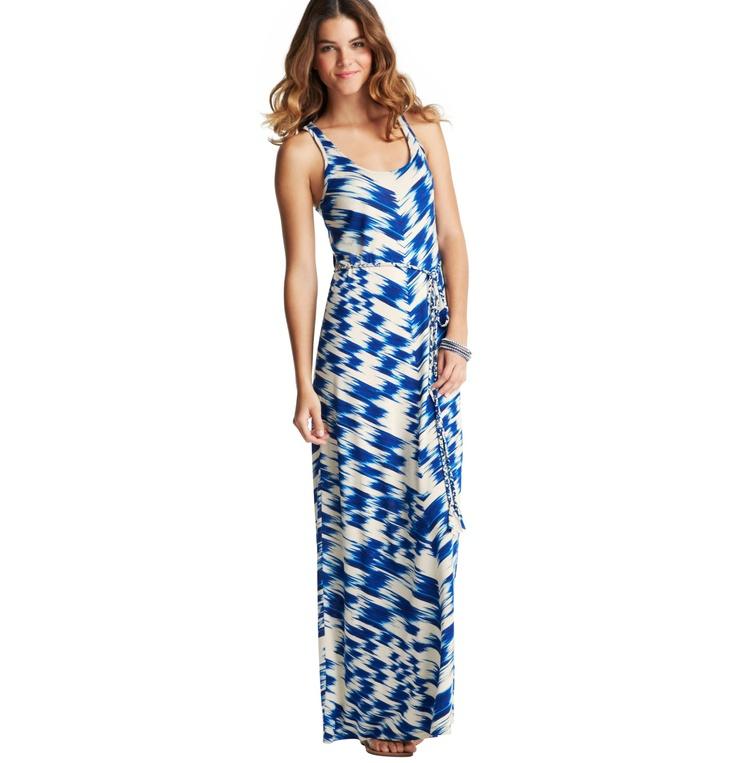 Loft - Petite Dresses: Petite Casual Dresses, Petite Sheath & Shirt Dresses: LOFT - Petite Ikat Print Racerback Maxi Dress