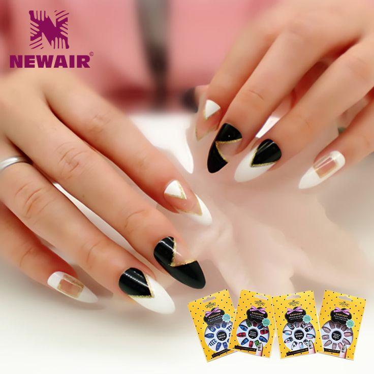 New Full Cover False Nails Stiletto Nails Sexy Acrylic Nail Tips UV  Long Artificial Nails Fake Nails Fuax Ongles High Quality