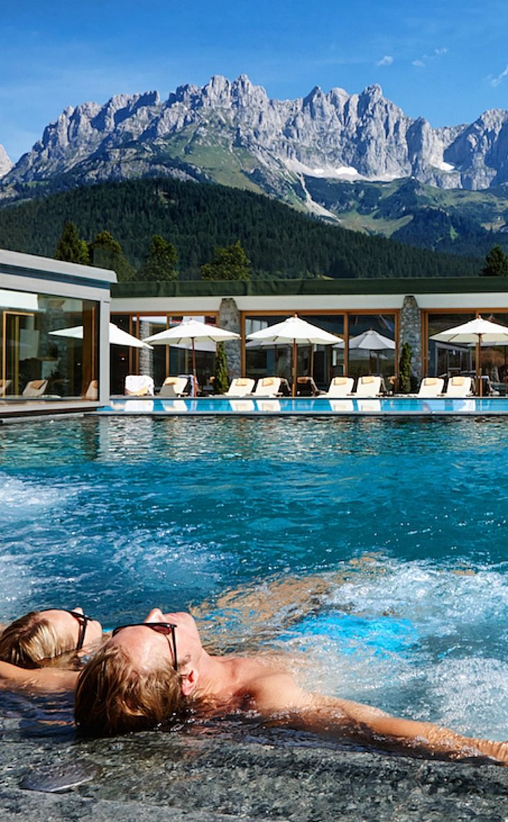 Relaxation Austrian style. The fantastic pool at Bio-Hotel Stanglwirt in Tirol Austria
