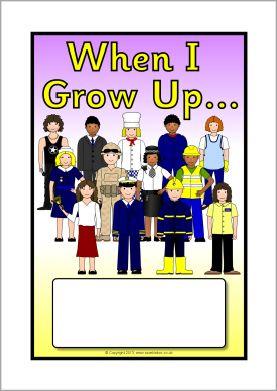 When I Grow Up... editable topic book covers (SB9848) - SparkleBox