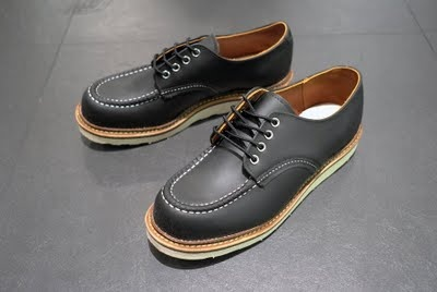 red wing moc toe oxford.