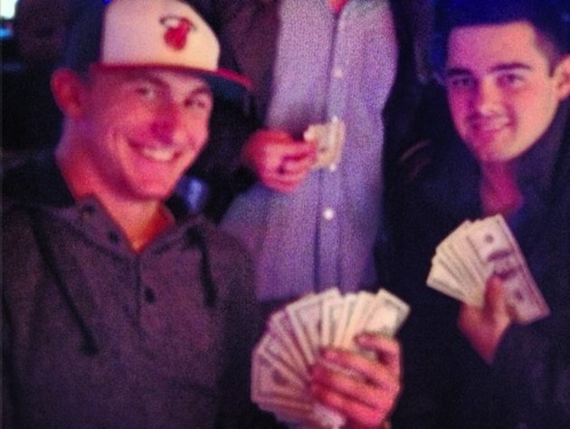 Johnny Manziel Instagram Photo: Casino Ballin'!