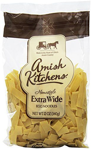 Traditional Amish Kitchen Noodles, Extra Wide, 12-Ounce Bags (Pack of 12), ,