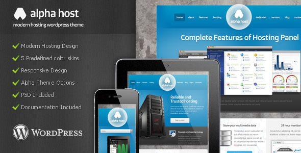 Alpha - Modern Hosting Wordpress Theme   Technology   Hosting Wordpress Theme