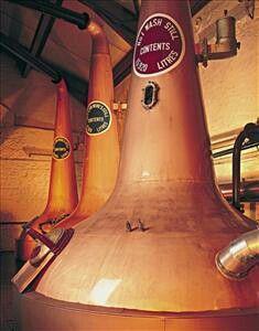 Copper Pot Stills In The Stillhouse Of The Old Bushmills Distillery