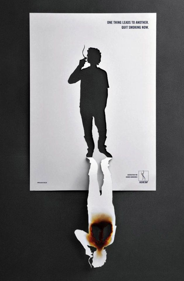 Nouvelle campagne de l'ADESF (ou Association For Smoker Awareness)by Neogama BBH (brésil)
