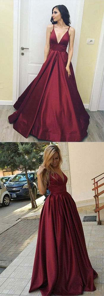 Long Prom Dresses,Cheap Prom Dress,Party Dresses,Prom Gowns,Gowns Prom,Evening Dresses,Cheap Prom Dresses,Dresses for Girls,Prom Dress UK,Prom Suit,Prom Dress Brand,Prom Dress Store,Burgundy Simple V Neck Long Prom Dress, Floor Length Evening Dress, M94