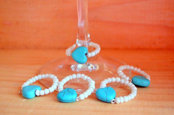Wine Glass Ring  . Wine Glass Charm . by FourSeasonsCreations