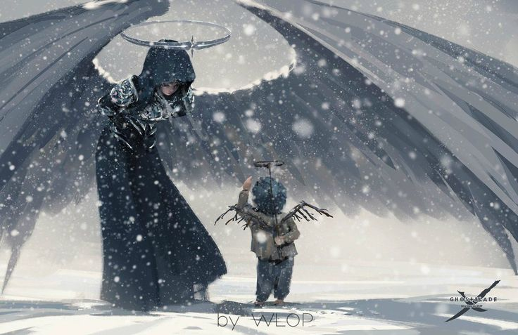 """cyrail: """" Bow by wlop Featured on Cyrail: Inspiring artworks that make your day better """""""