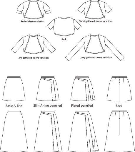 Tahi skirt and shrug – Muse Patterns
