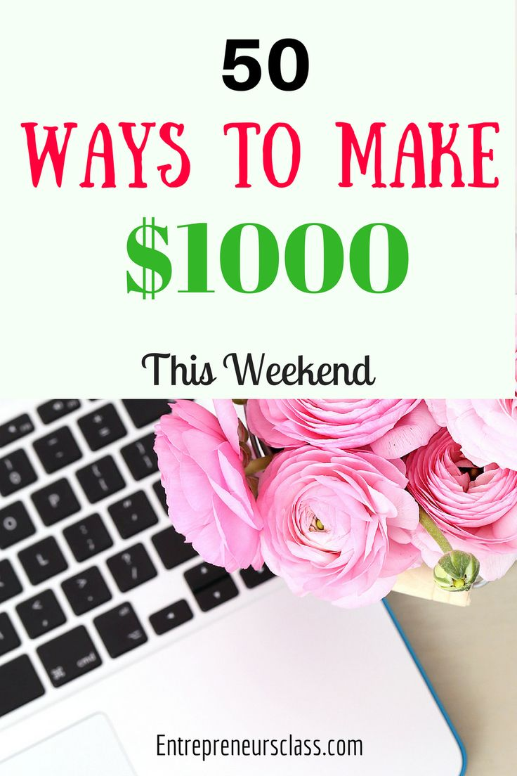 50 Ways to make $1000 online this weekend.If you are looking for legitimate online business to make money,check out this blog post.