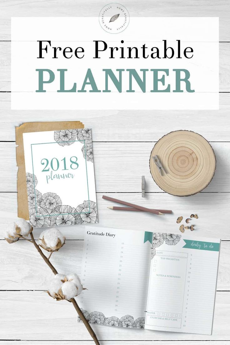 Ready to get organized? This free printable calendar for 2018 features a monthly planner, weekly planner, and daily to do list. Also, there's a gratitude and happiness dairy, a habit tracker, a meal planning printable, and a grocery list printable. And it's so cute and FREE! Hop to www.homebeautifully.com to grab your free calendar printable! #printable #planner #freeplanner #downloadableplanner #calendar Similar ideas: free planner printable | monthly calendar | 2018 printable calendar…