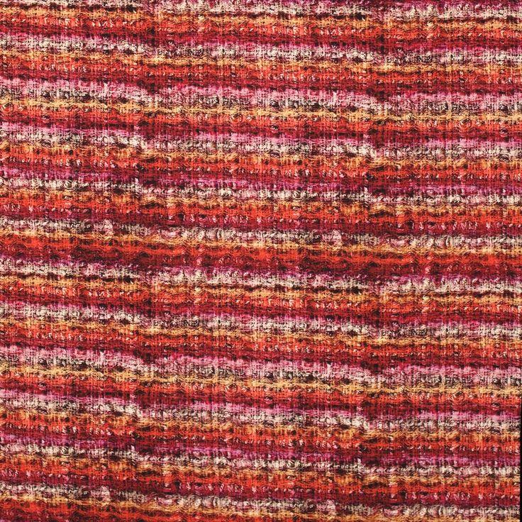 rood oranje roze gestreepte inkjet print stretch tricot italiaans import