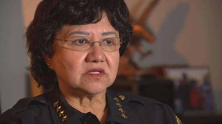 a man wearing glasses: Dallas County Sheriff Lupe Valdez To Run For Governor