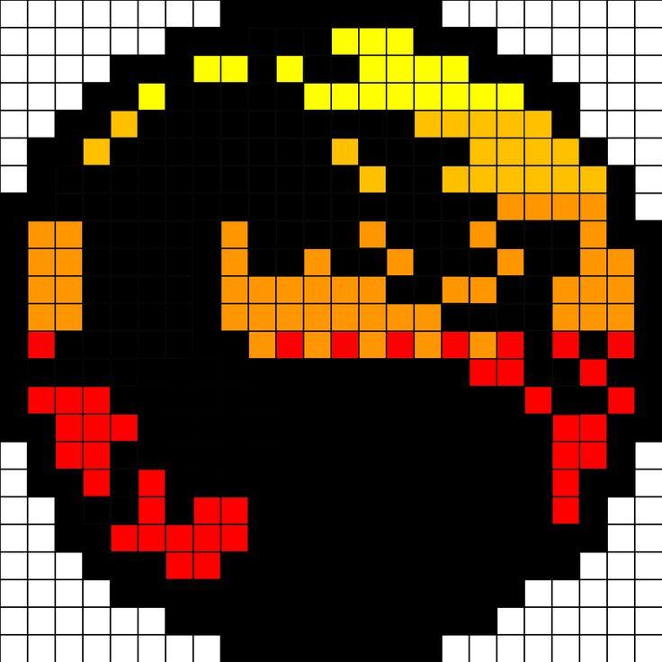Mortal Kombat logo (24x24, will fit on one square board)