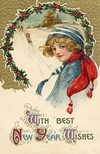 Кофе, новый год и рождество в открытках е в иванов