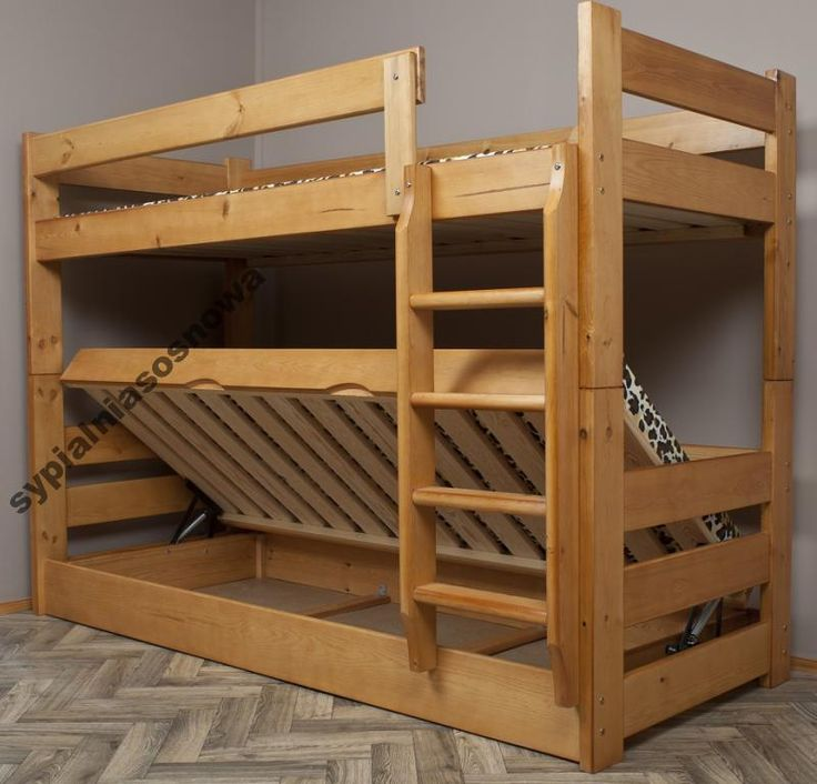 DOMINATOR 80x200 łóżko piętrowe MEGA SOLIDNE 120kg