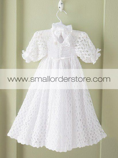 Free Crochet Patterns For Childrens Dresses : 17 Best images about Baby crocheted christening dress on ...