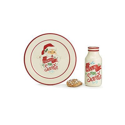 I've always loved the tradition of waiting for Santa with milk and cookies. But did you know that you can also have a special dinnerware to serve them on?