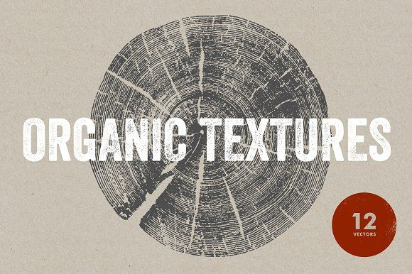 Organic Textures - 12 Vectors by Offset on @creativemarket