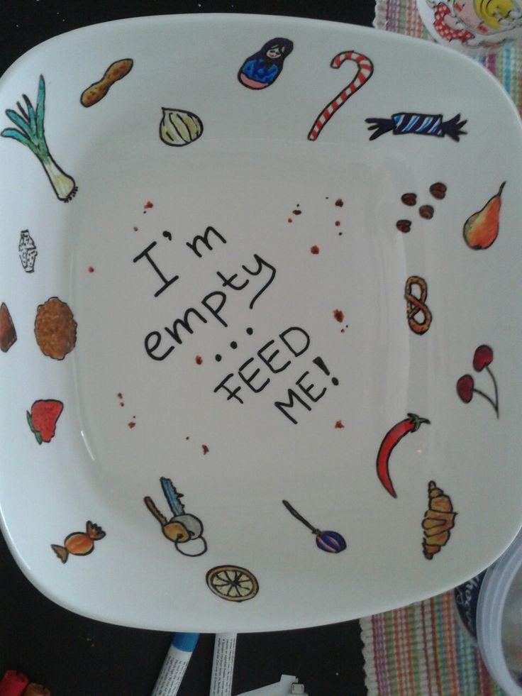 Handpainted bowl inside