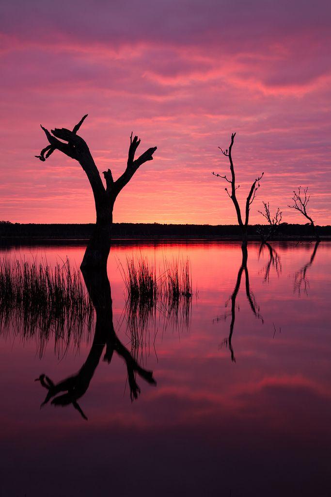˚Sunrise over Lake Fyans - Grampians National Park, Australia