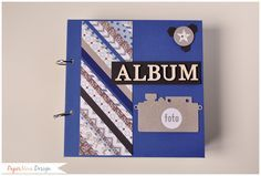 Album Anelli - Medio - PaperNova Design Scrapbooking, marianne design, modascrap, album, wood letters, photo, fotografie album di fotografie maschile