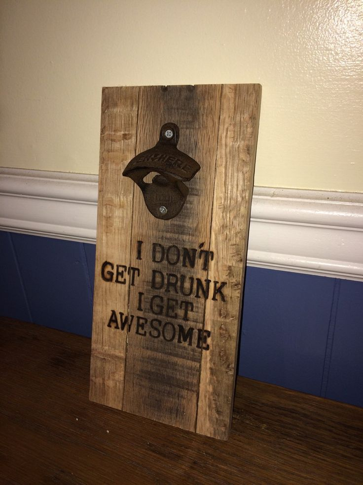 personalized wall mounted bottle opener, wall mount opener, handmade, father's day gift, man cave gift, bar gift, handmade by OniontownRepurposed on Etsy