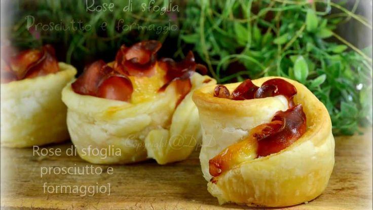 Rose di sfoglia prosciutto e formaggio