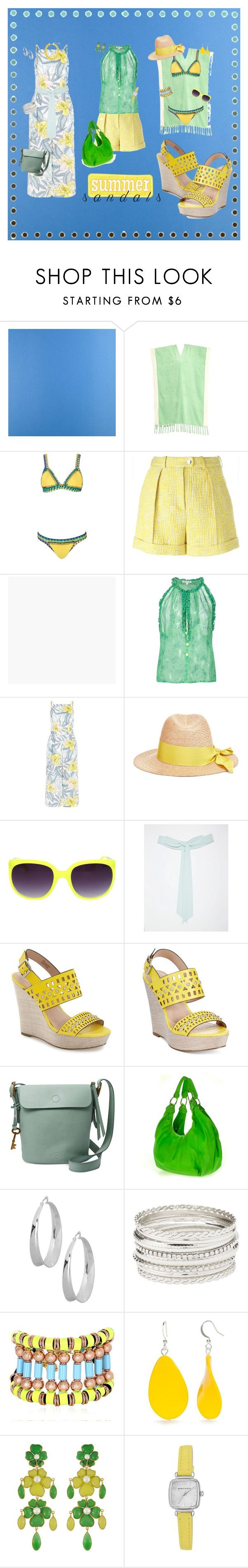 """All Summer Long"" by kbarkstyle ❤ liked on Polyvore featuring Designers Guild, Lisa Marie Fernandez, WithChic, Carven, Graham & Brown, Poupette St Barth, New Look, Federica Moretti, TFNC and Charles by Charles David"