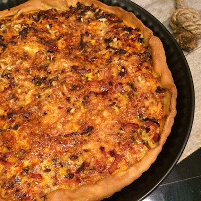 Hartige taart - quiche - met gehakt, ui, spekjes en meer